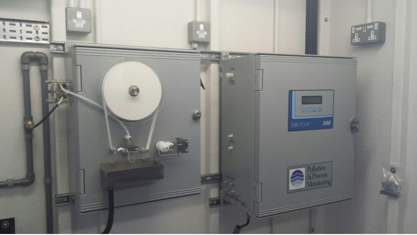 Installation for Heineken of Protoc TOC analsyers pre-installed by PPM