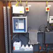 Proam ammonia & turbidity final effluent monitor pre-mounted onto PVC panel