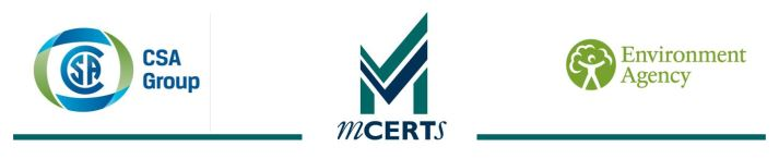 Mcerts | CSA Group | Environment Agency