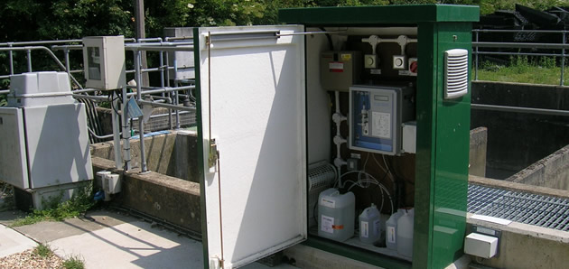 Proam final effluent monitoring kiosk (green)